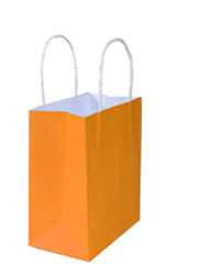 Kraft Bags Small - Citrus Orange