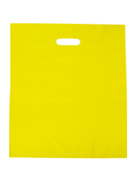 Coloured Gloss Plastic Large - Reinforced Handles - Yellow