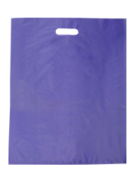 Coloured Gloss Plastic Large - Reinforced Handles - Purple