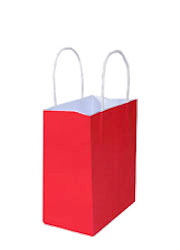 Kraft Bags Junior - Radiant Red