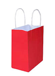 Kraft Bags Small - Radiant Red