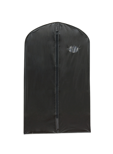 Black PEVA Suit Cover