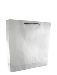 White Paper Bags with Handles – Large