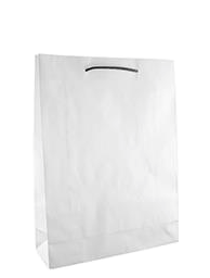 White Paper Bags with Handles – Midi