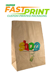 Brown Paper Grocery Bags - X Large - Fast Printed