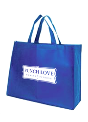 Express Printed Landscape Tote Bags with 14cm gusset - Electric blue