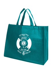 Express Printed Landscape Tote Bags with 14cm gusset - Teal