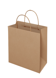 Brown Kraft Paper Bag - Takeaway Small