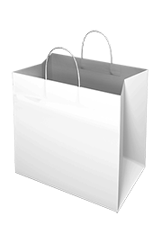 White Kraft Paper Bag - Takeaway Large