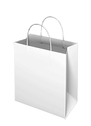 White Kraft Paper Bag - Takeaway Small