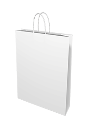 White  Kraft Paper  - Medium Boutique 250/ctn
