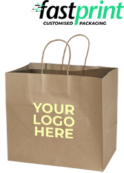 Brown Kraft Paper Bag – Takeaway Medium – Printed
