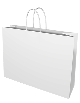 White Kraft Paper Bags - Midi Boutique