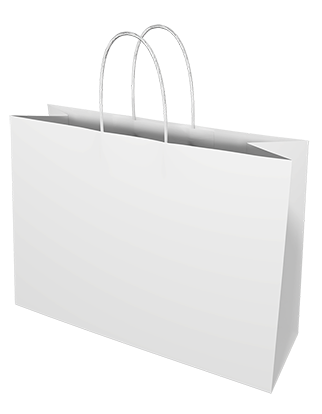 White Kraft Paper Bags - Small Boutique